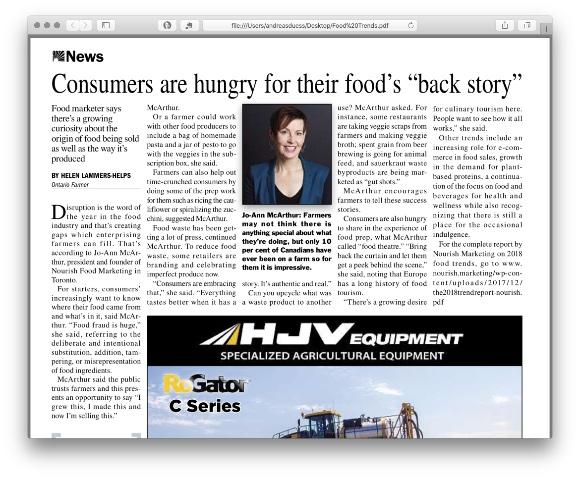 Ontario Farmer Article