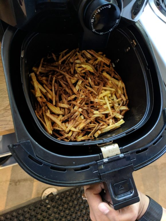 Cooked fries in a Philips Airfryer