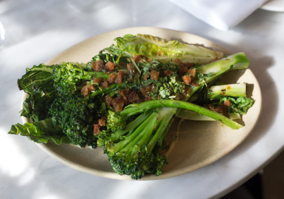 Tijuana-style broccolini at Rosalinda restaurant