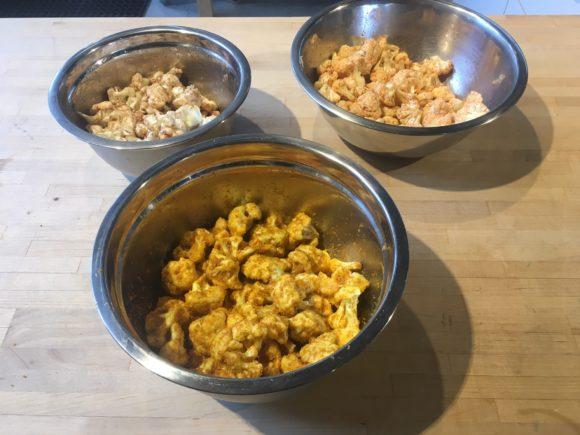 Seasoned cauliflower popcorn